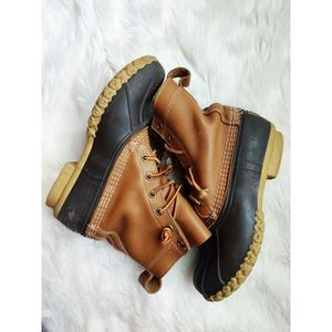 L.l. bean duck rain snow boots size 9 brown womens